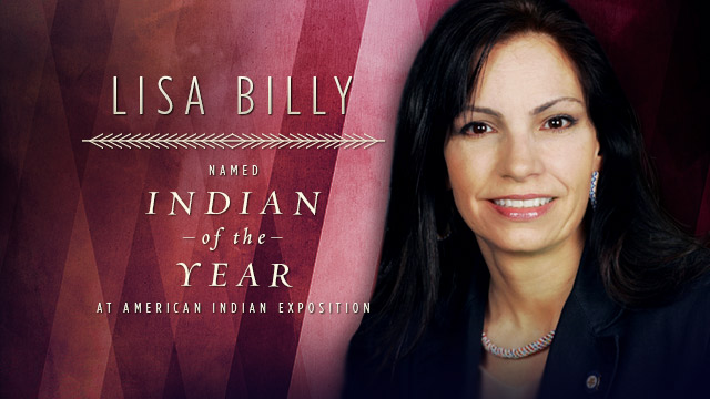 Respect the Spark : Lisa Billy Named Indian of the Year