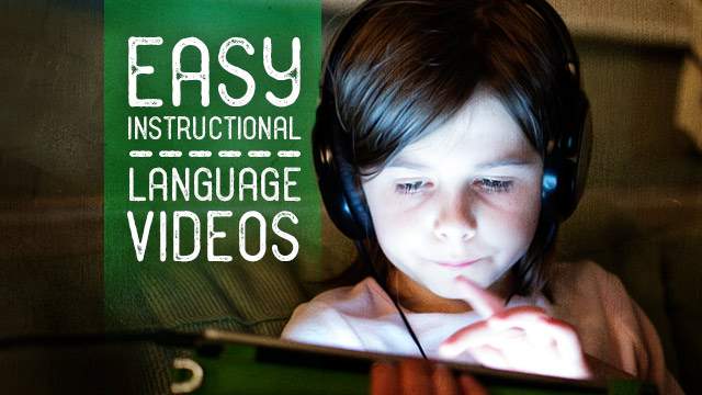 Language : Easy Instructional Language Videos